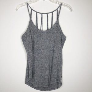 CHASER Scoop Neck Strappy Back Shirttail Tank